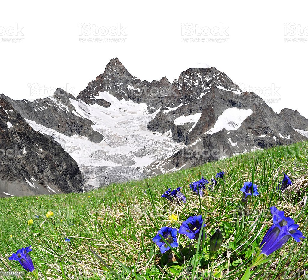 Mountain Gabelhorn in Pennine Alps, Switzerland stock photo
