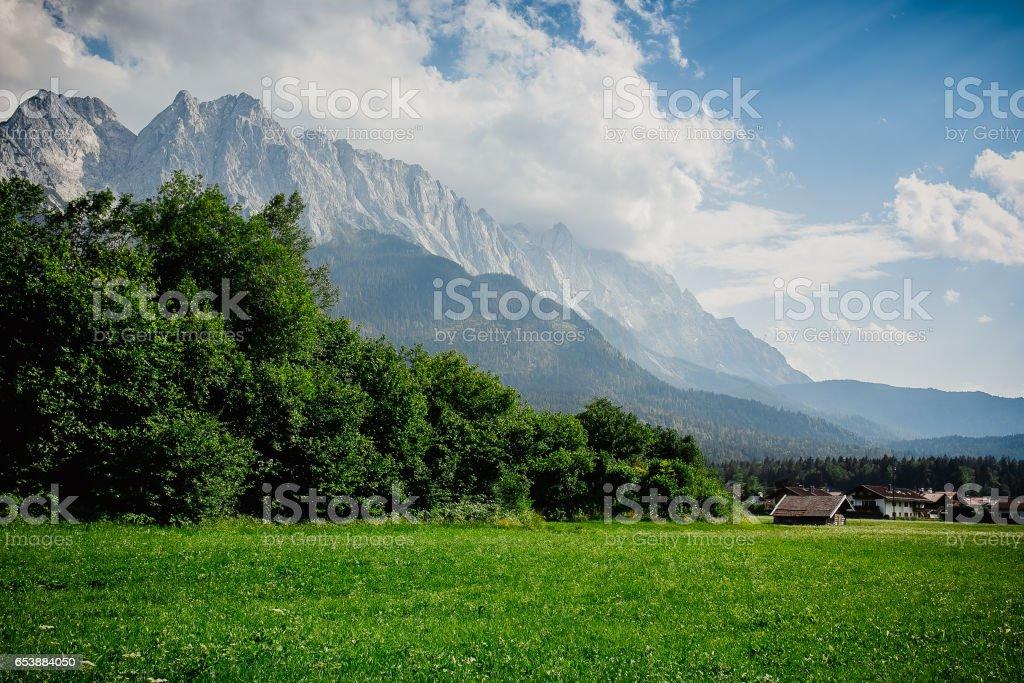 mountain germany landscape peak snow stock photo
