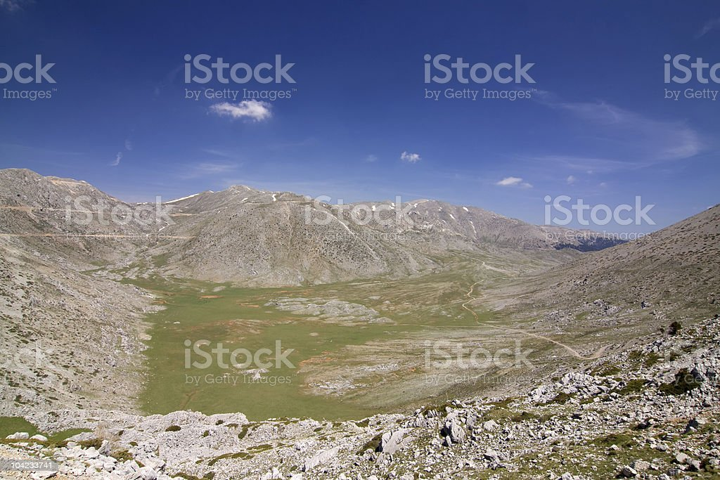 Mountain Giona Alpine Meadow stock photo