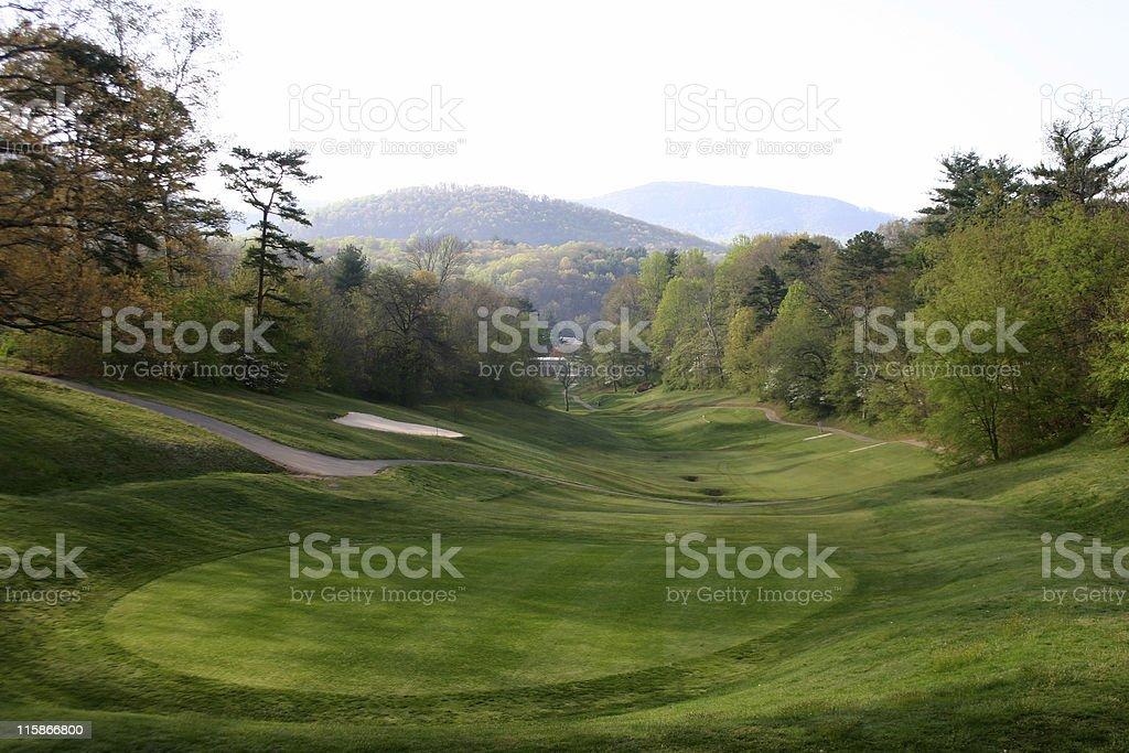 Mountain Golf Course royalty-free stock photo
