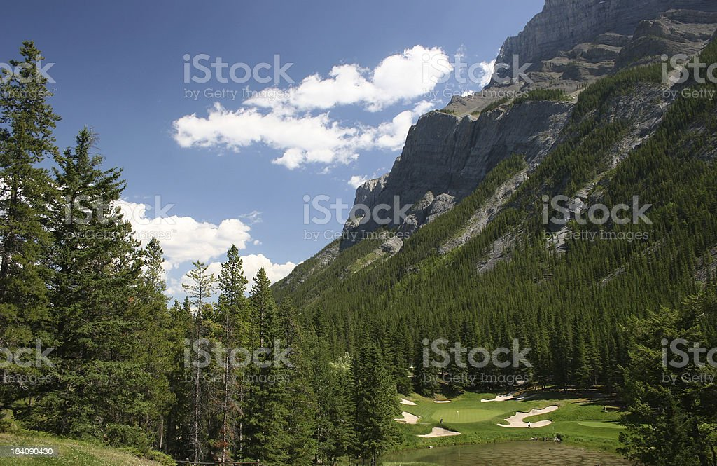 Mountain Golf Hole royalty-free stock photo