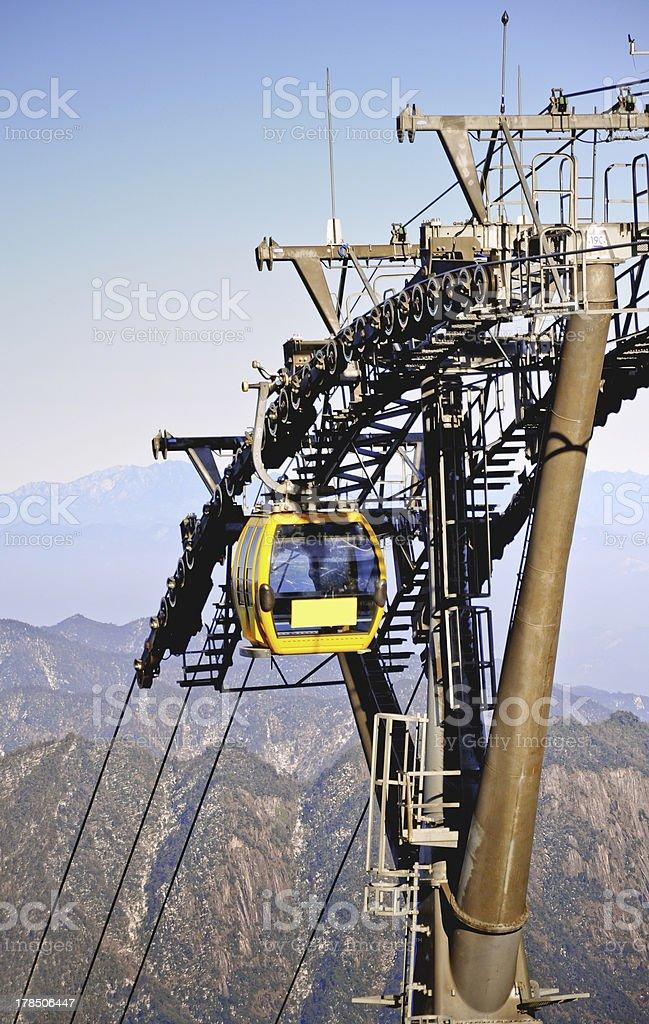 Mountain Gondola on a blue sky royalty-free stock photo