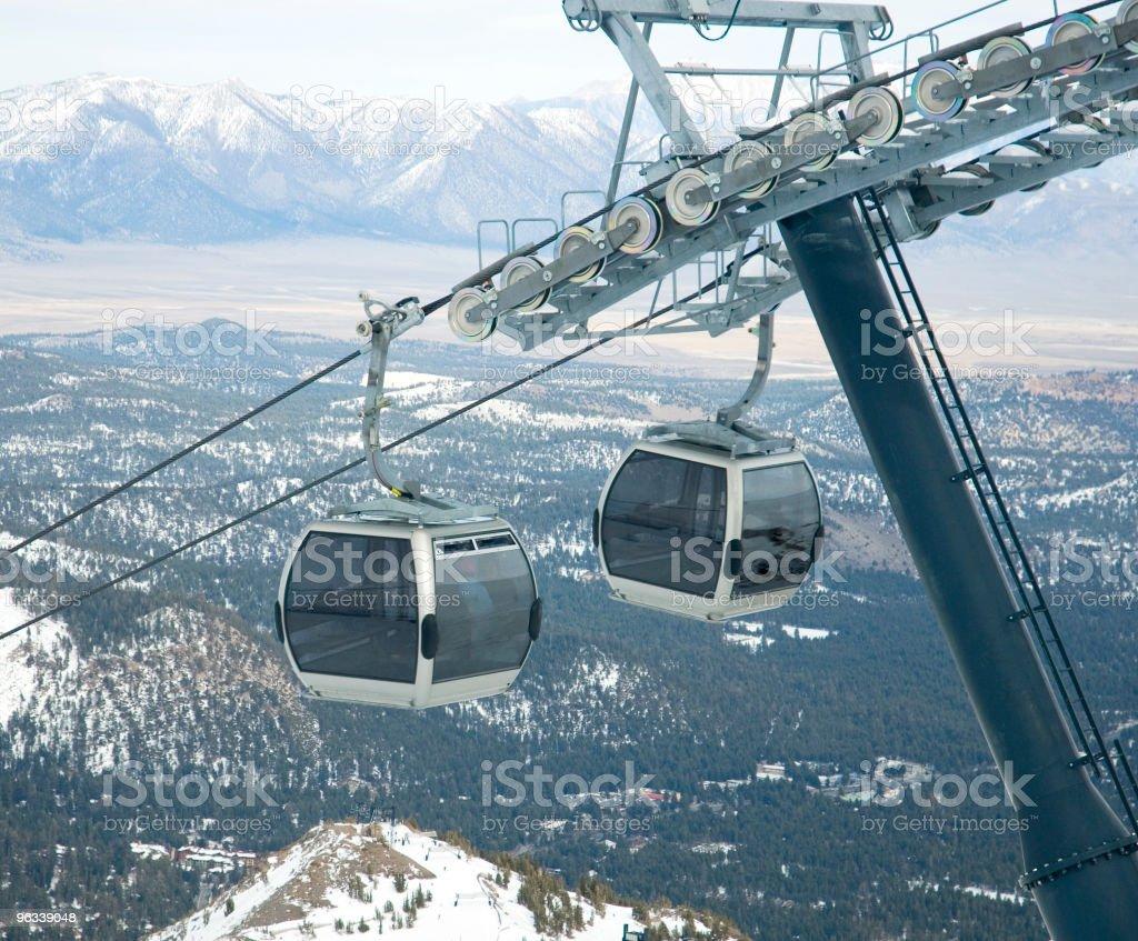 Mountain Gondola royalty-free stock photo