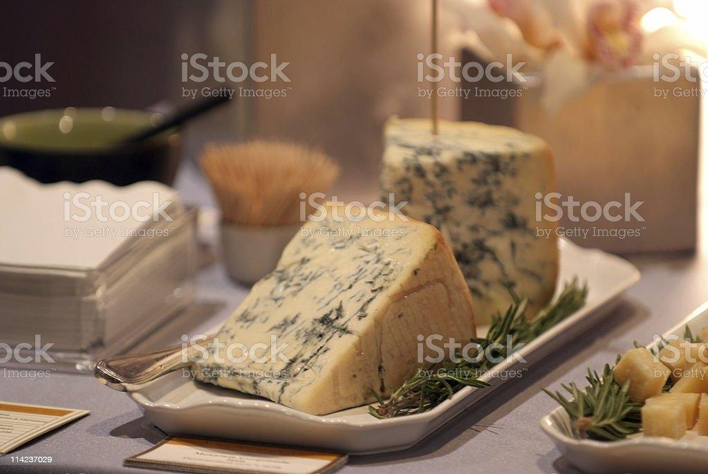 Mountain Gorgonzola stock photo