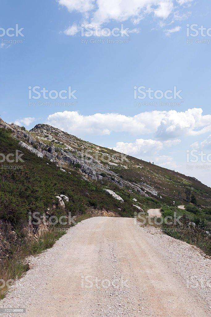 Mountain  Gravel Road stock photo