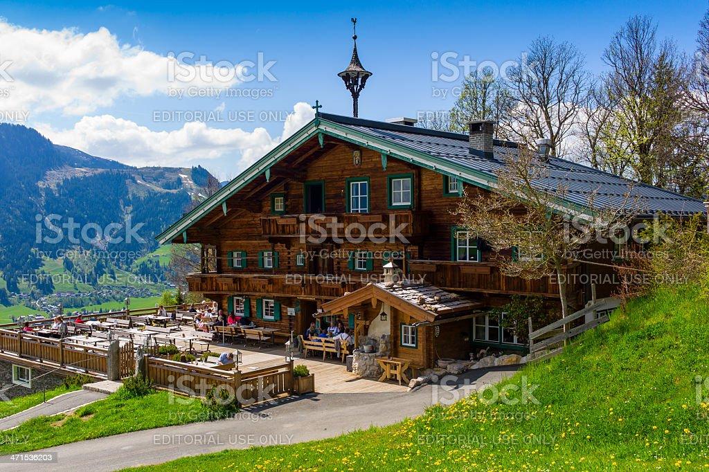 Mountain Guesthouse Hagstein, Kitzbühel, Austria, European Alps royalty-free stock photo