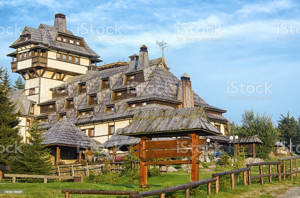 Mountain Guesthouse royalty-free stock photo