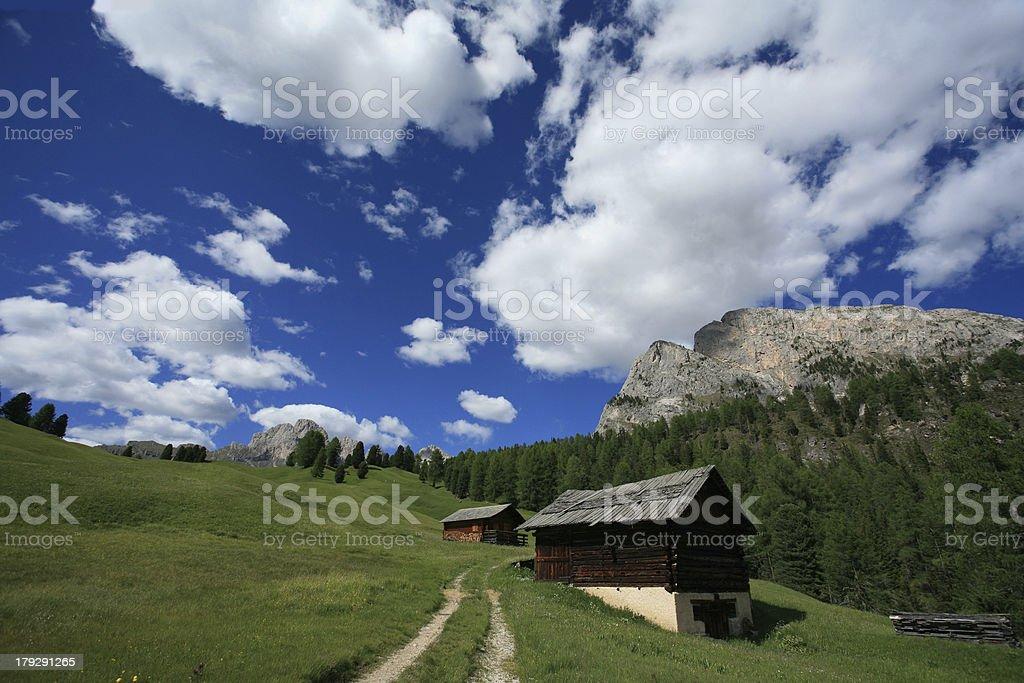 Mountain hamlet stock photo