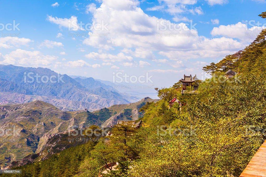 Mountain Hengshan(Northern Great Mountain) scene stock photo