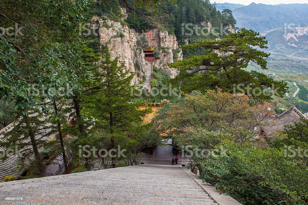 Mountain Hengshan(Northern Great Mountain) scene stock photo