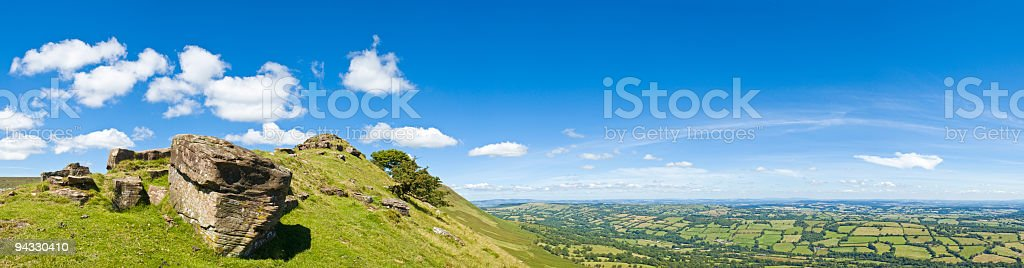 Mountain high, blue sky royalty-free stock photo