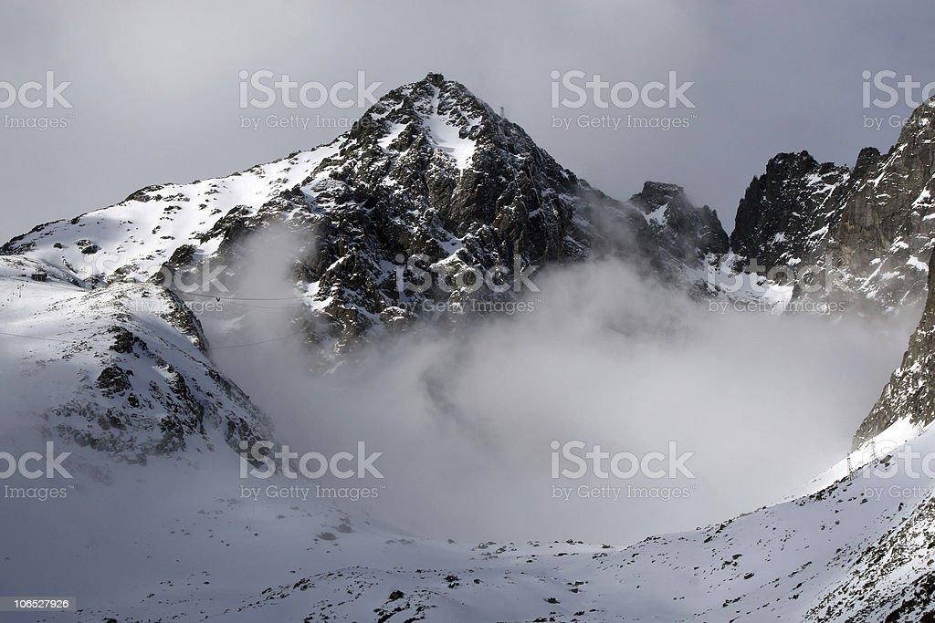 Mountain  - High tatry (Skalnate pleso, Slovakia) royalty-free stock photo