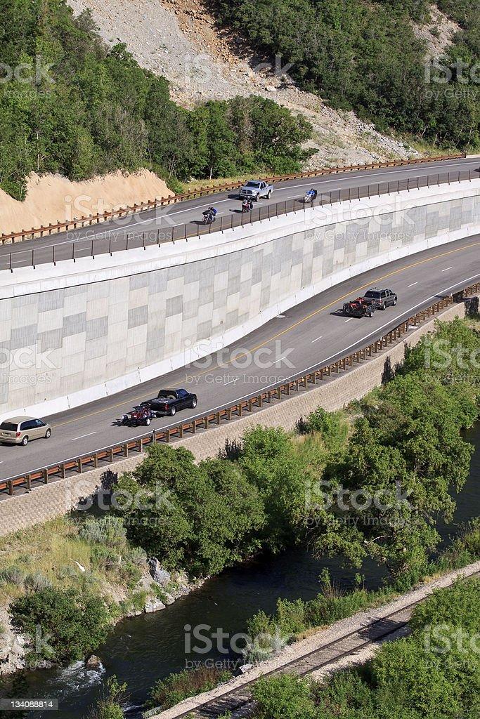 Mountain Highway royalty-free stock photo