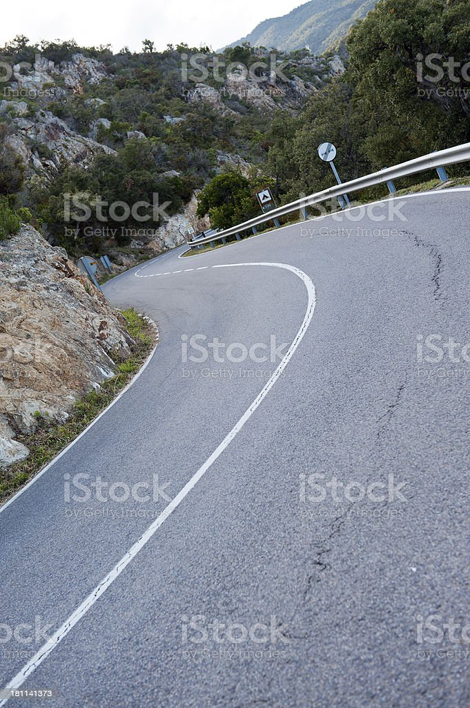 Mountain highway. royalty-free stock photo