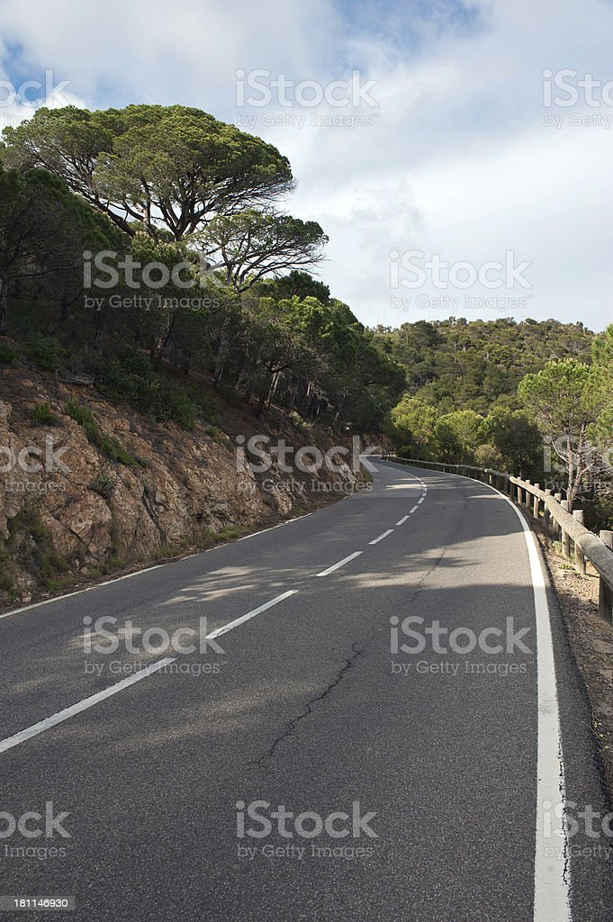Mountain highway royalty-free stock photo