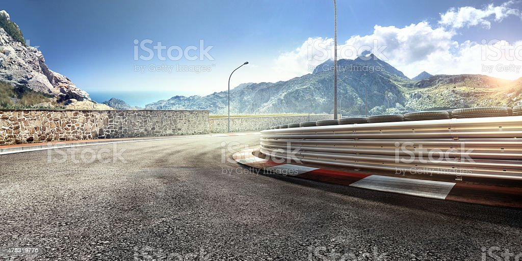Mountain Highway Track stock photo