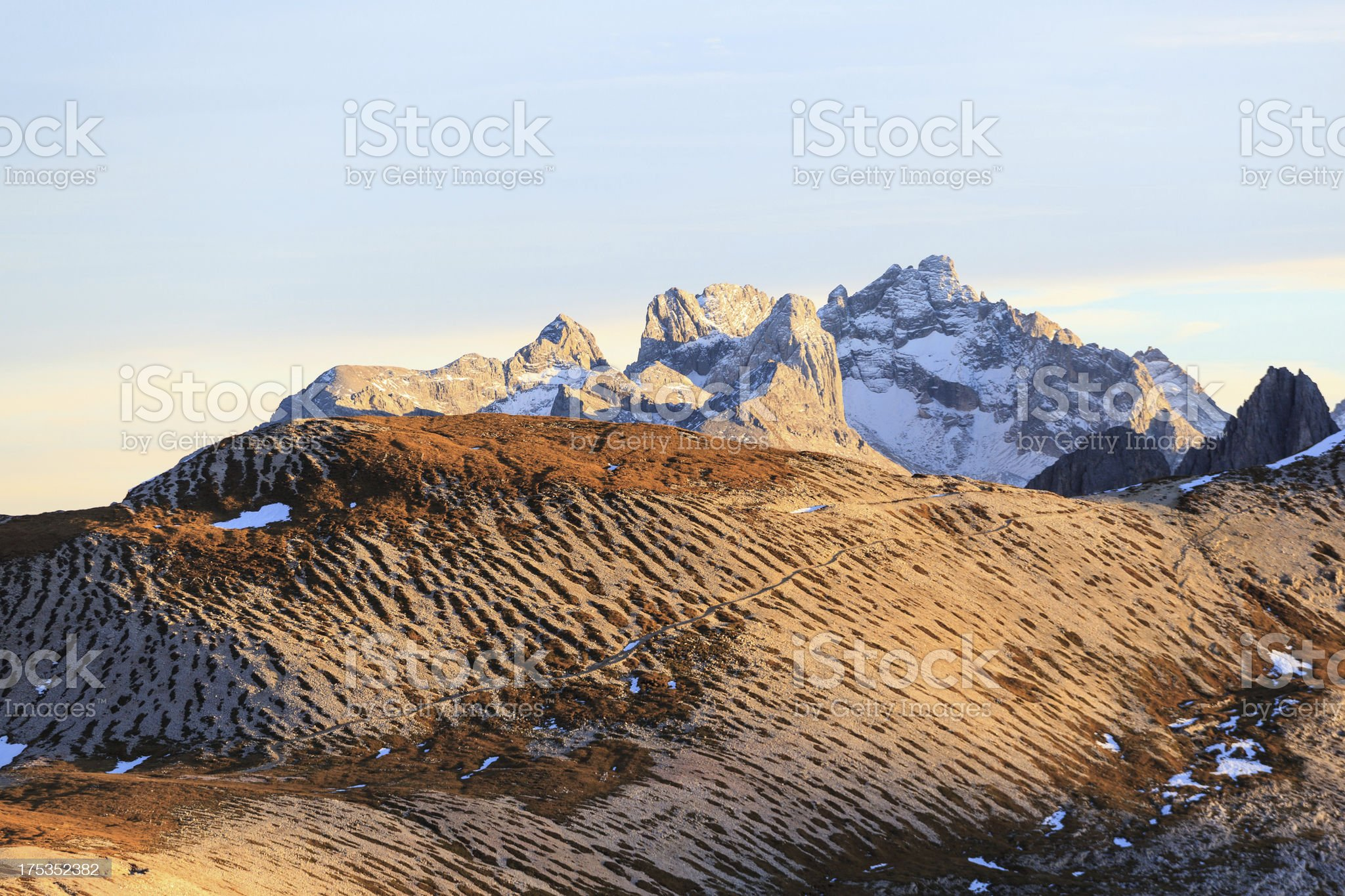 Mountain higing trail royalty-free stock photo