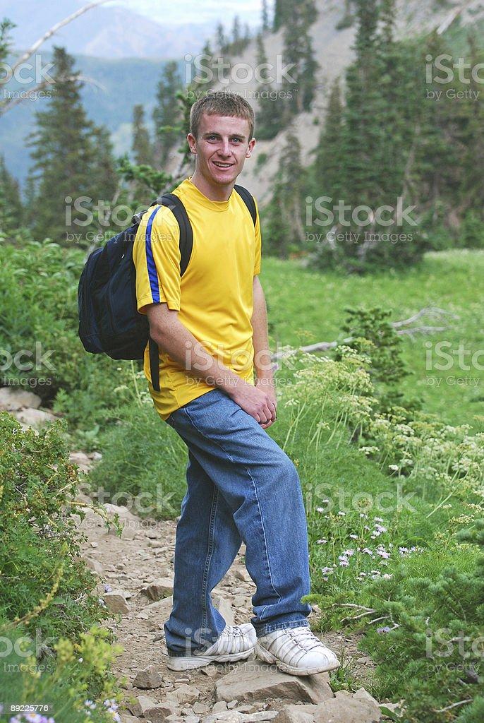 Mountain Hiker royalty-free stock photo