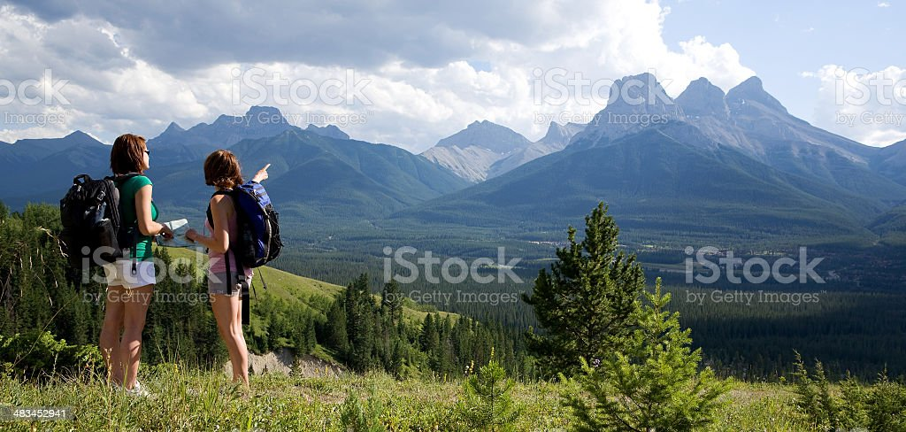 Mountain Hikers royalty-free stock photo
