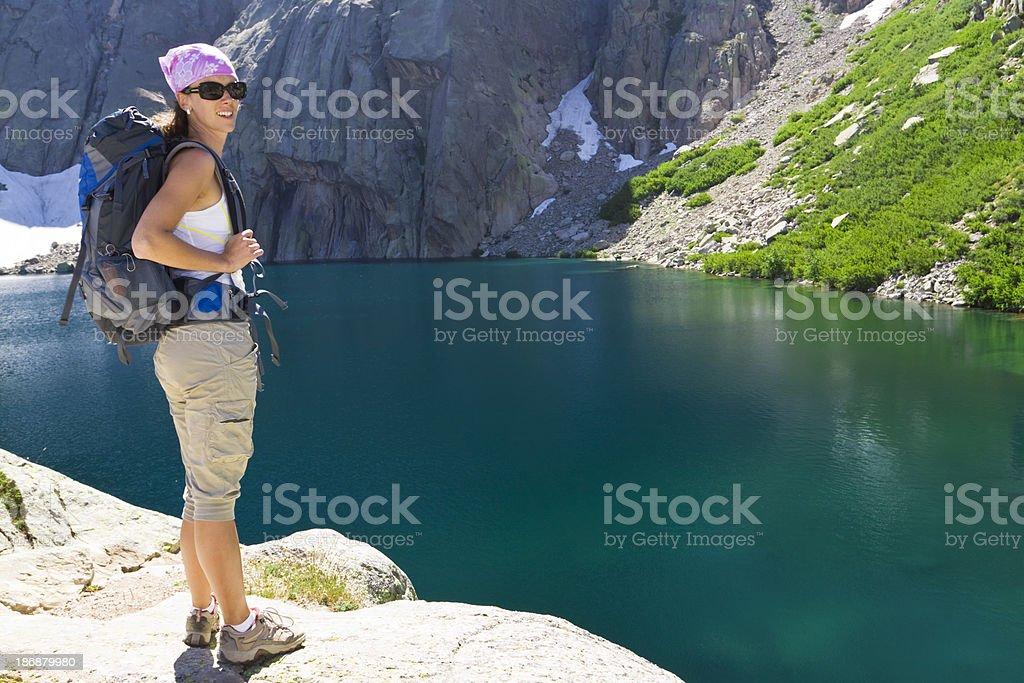 mountain hiking royalty-free stock photo