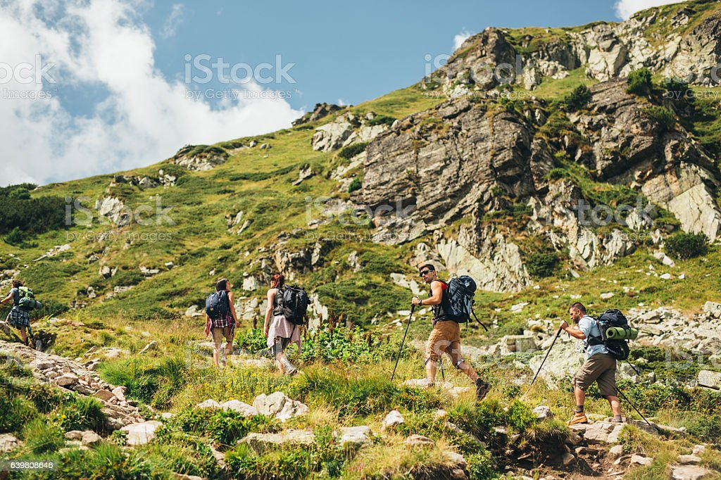 Mountain Hiking stock photo