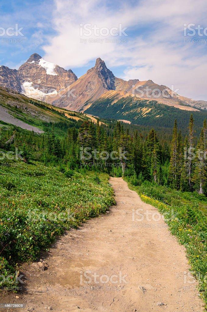 Mountain Hiking Trail Canada stock photo