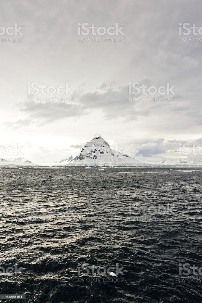 Mountain hill from the Lemaire channel royalty-free stock photo