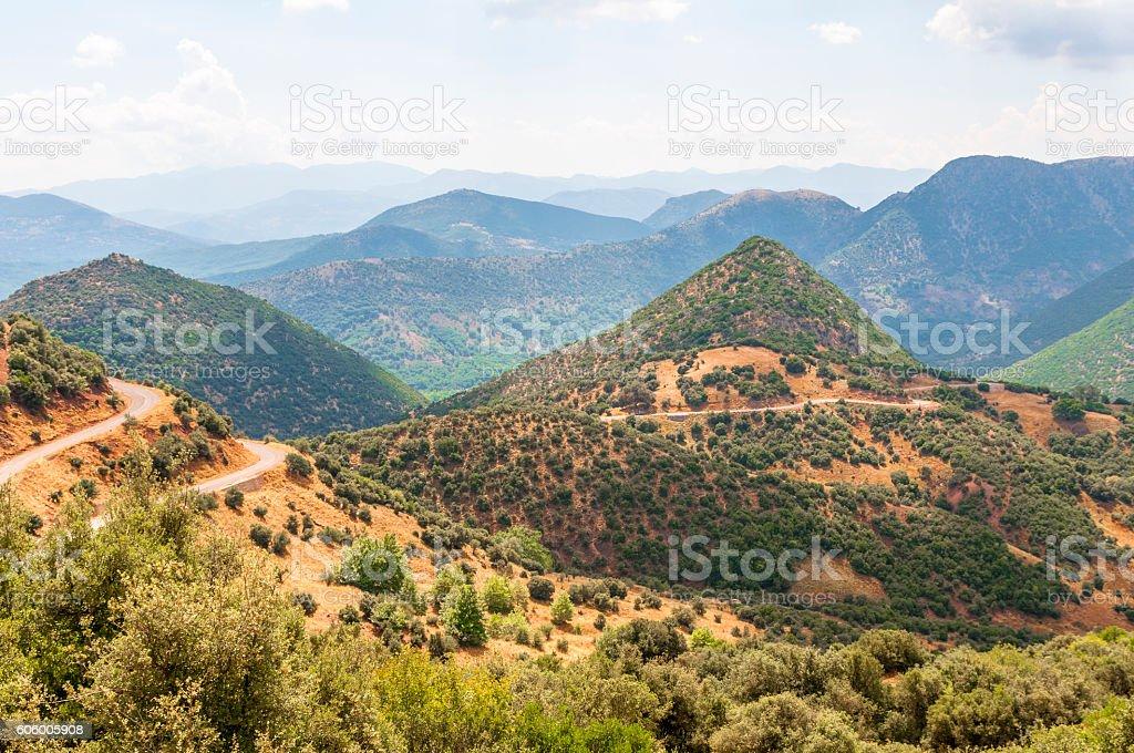 Mountain hills of Greece stock photo