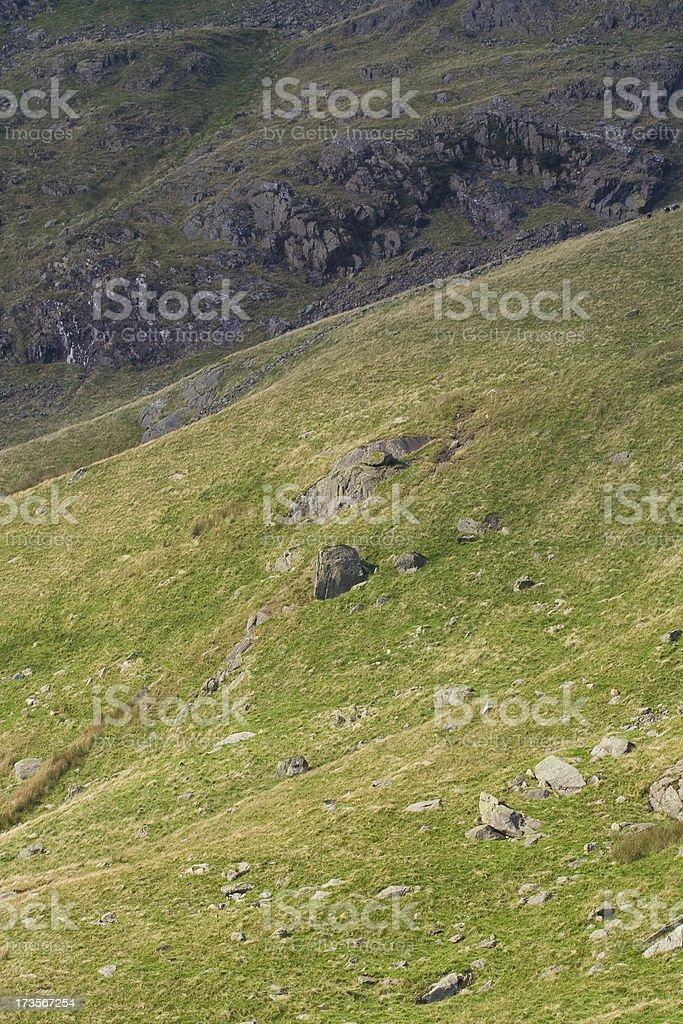 Mountain hillside royalty-free stock photo