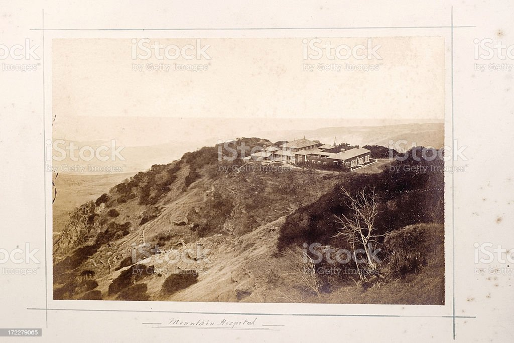 Mountain Hospital stock photo