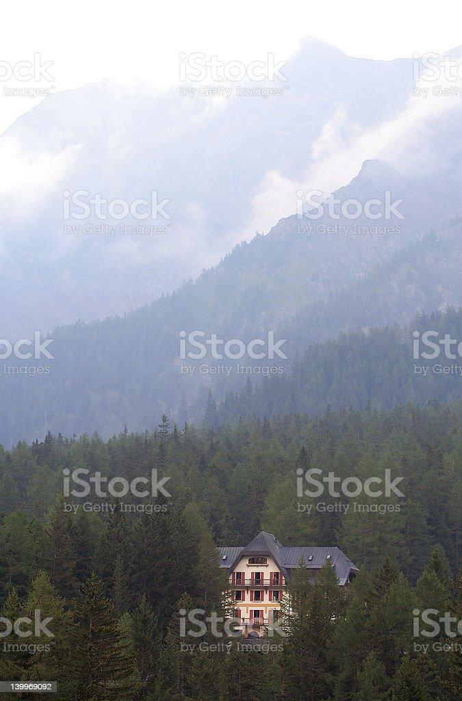 Mountain hotel royalty-free stock photo