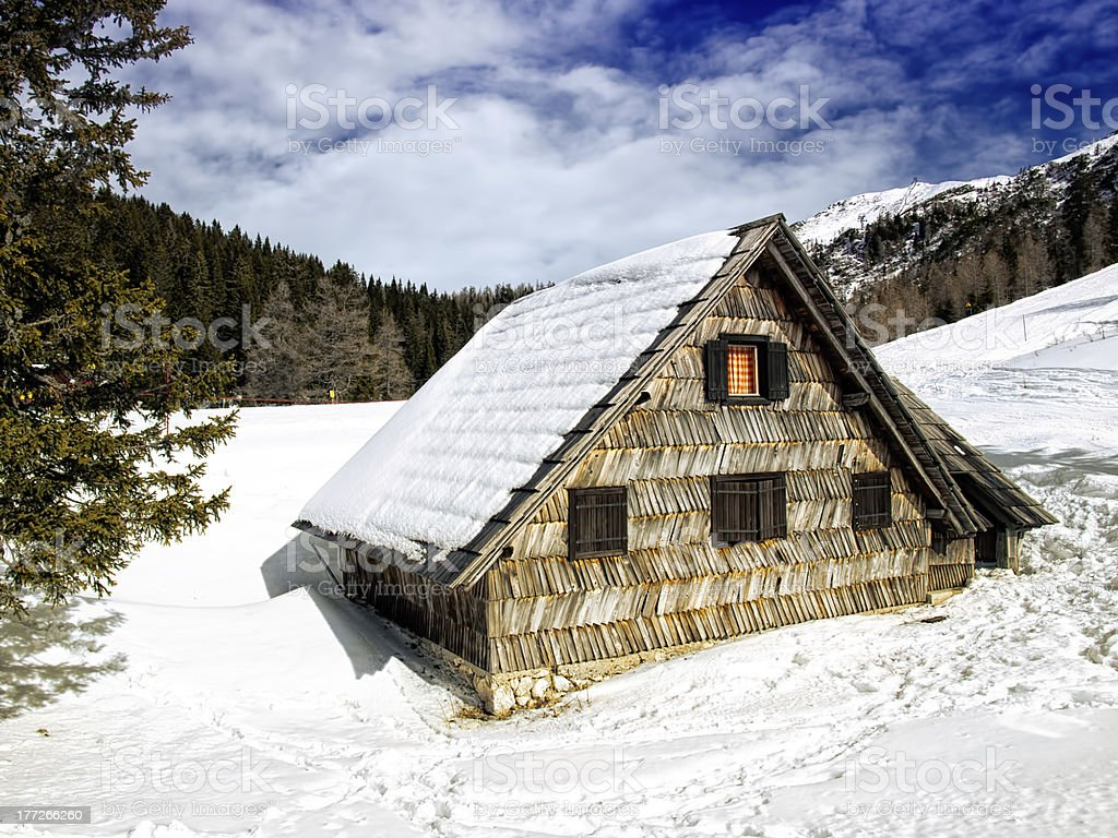 Mountain house royalty-free stock photo