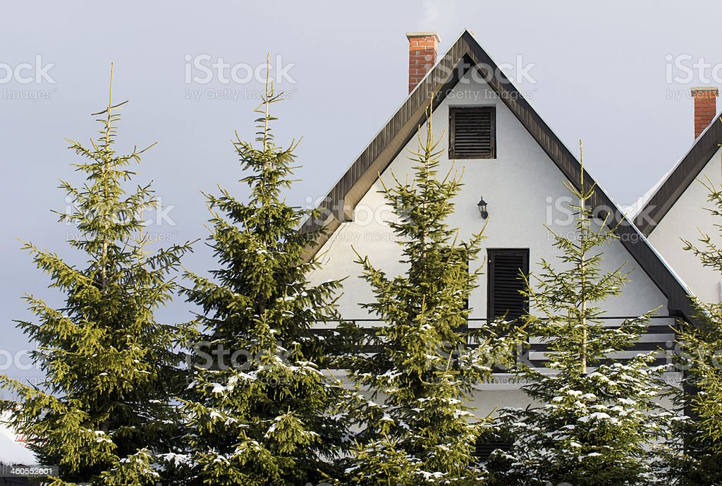 Mountain house stock photo