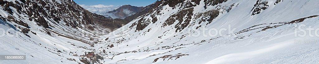 Mountain hut High Atlas Mountains Morocco stock photo