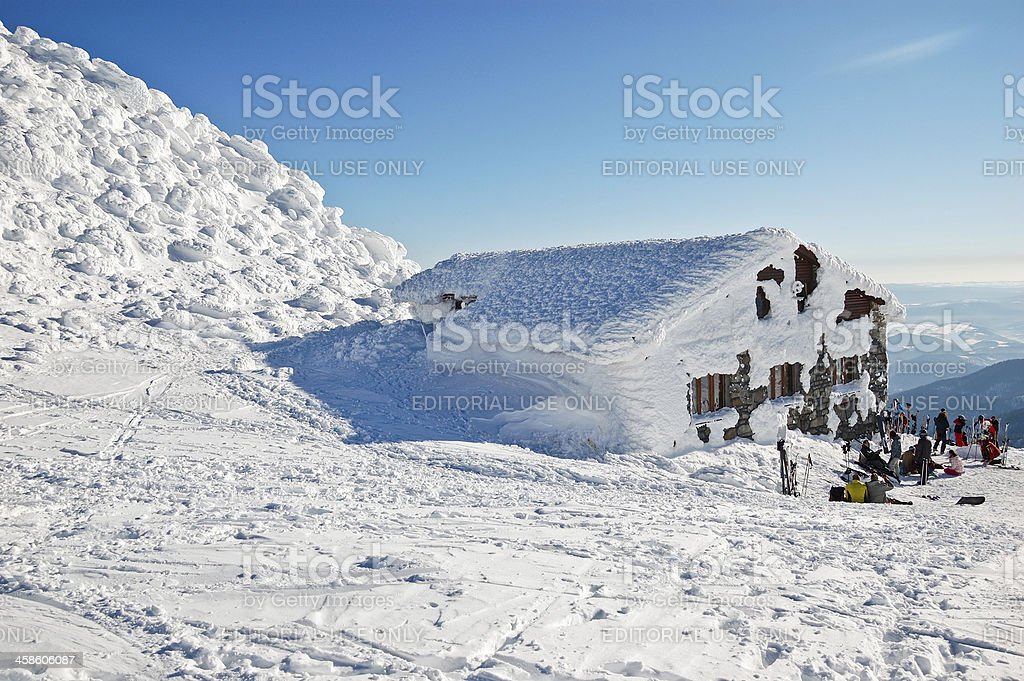 Mountain hut royalty-free stock photo