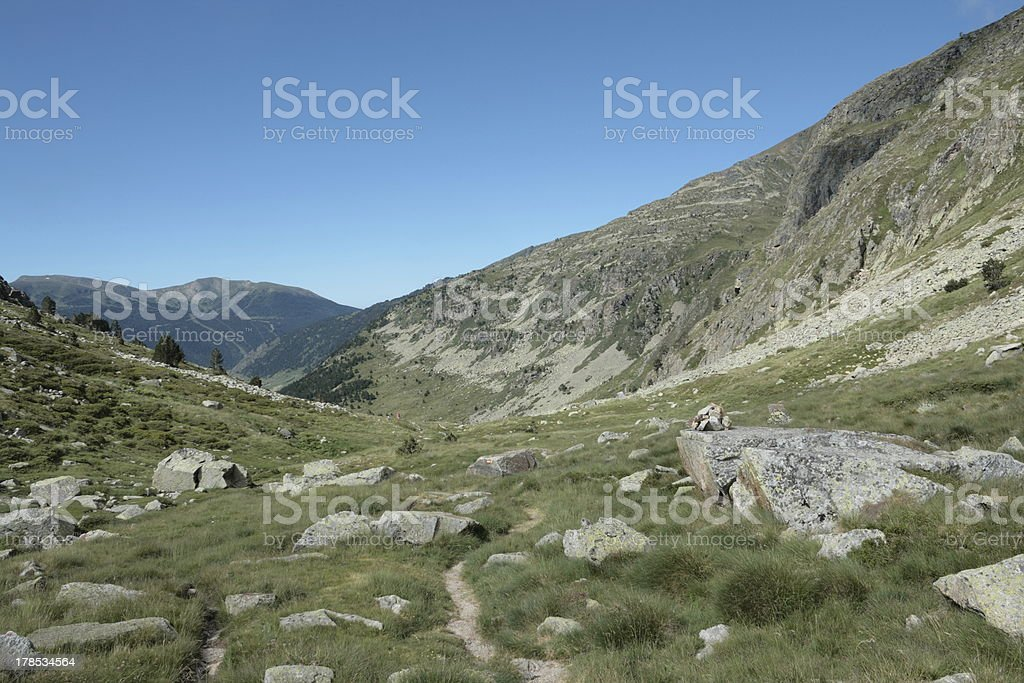 Mountain in Andorra royalty-free stock photo