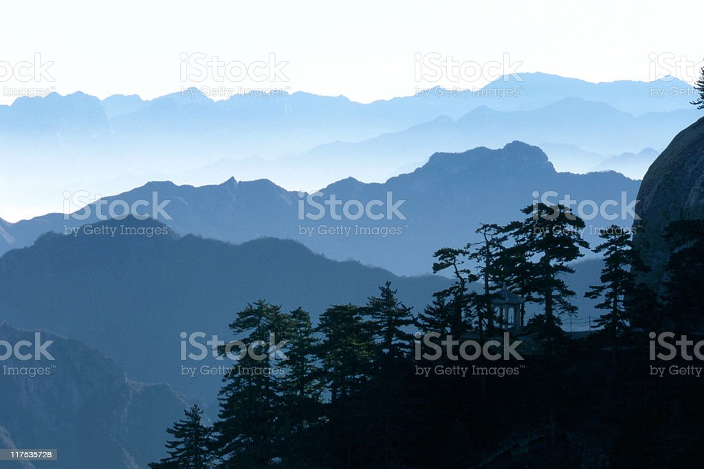 Mountain in Blue royalty-free stock photo