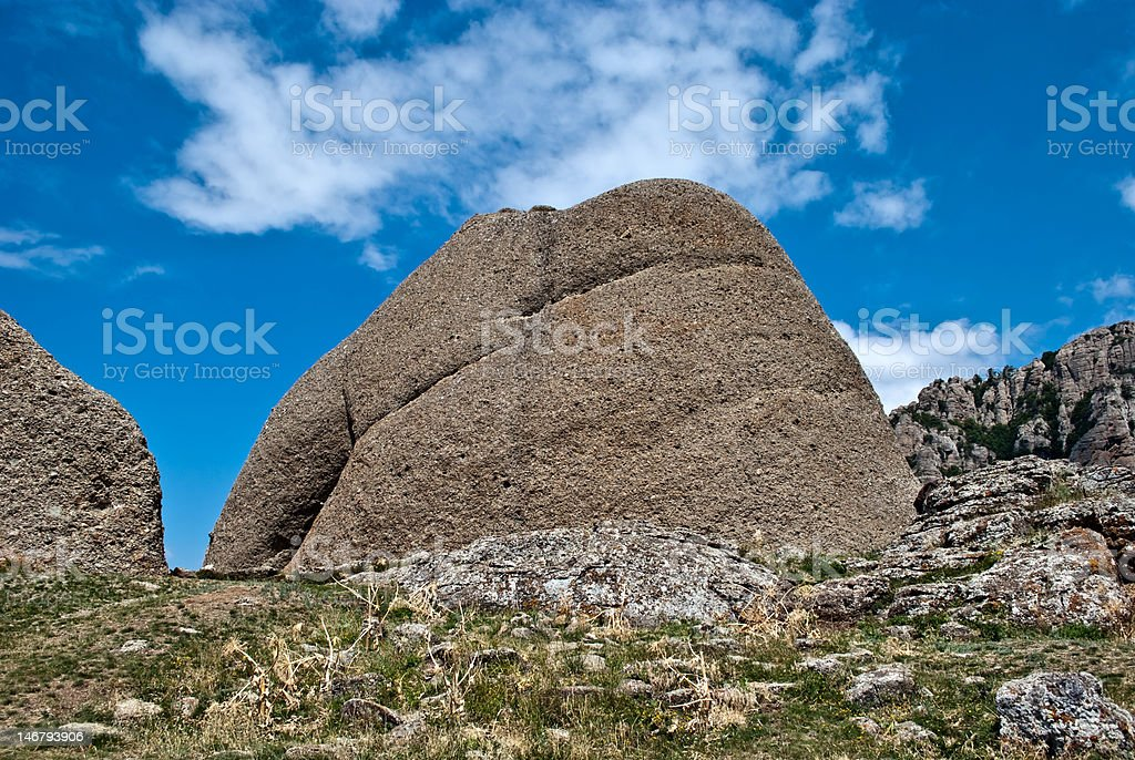 Mountain in blue sky stock photo
