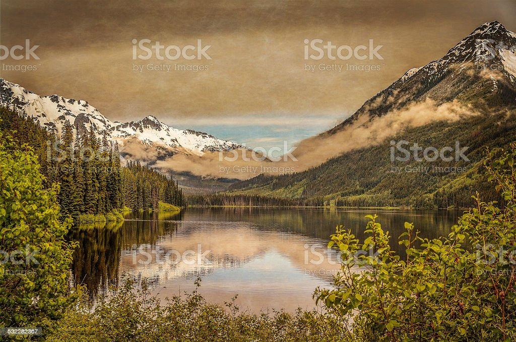 Mountain in British Columbia stock photo