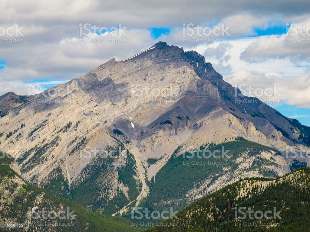 Mountain in Canada royalty-free stock photo