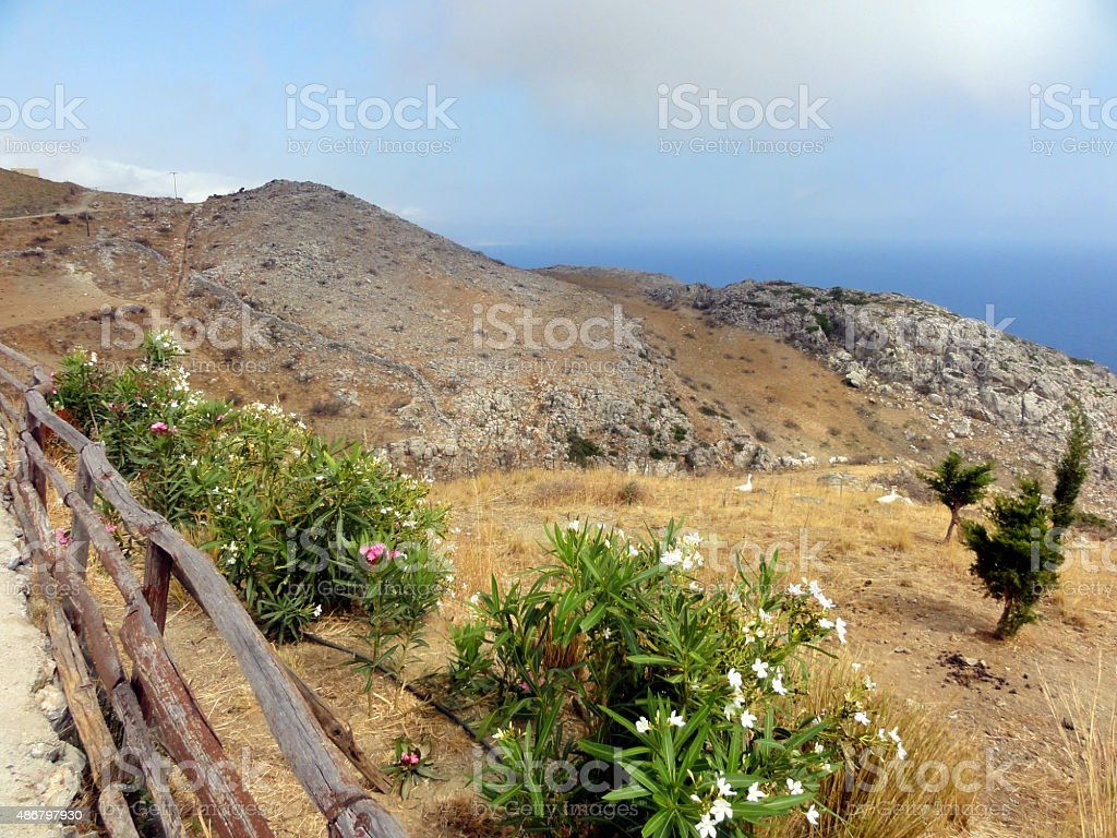 mountain in Greece stock photo