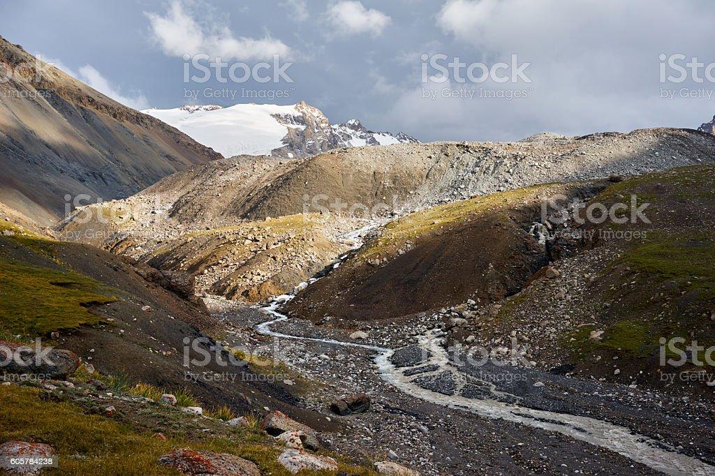 Mountain in  Kichik-Alai Range stock photo