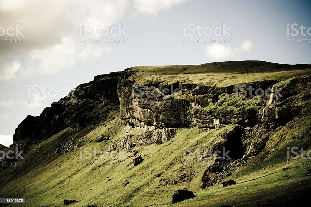 Mountain in Light and Shadow royalty-free stock photo