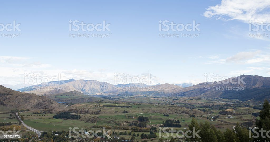 mountain in Queenstown route south island new zealand stock photo