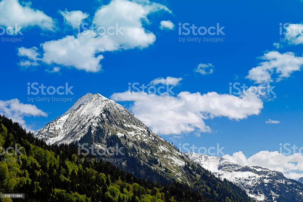 Mountain in Schoppernau / Vorarlberg stock photo