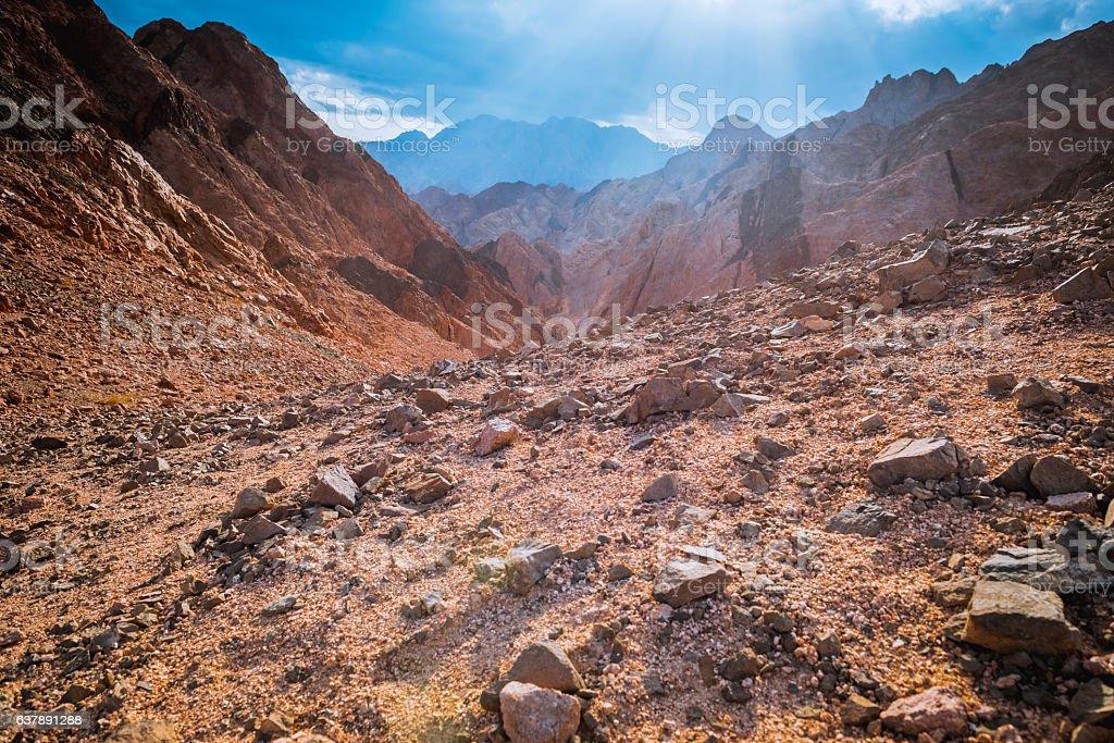 Mountain in Sinai desert Egypt stock photo