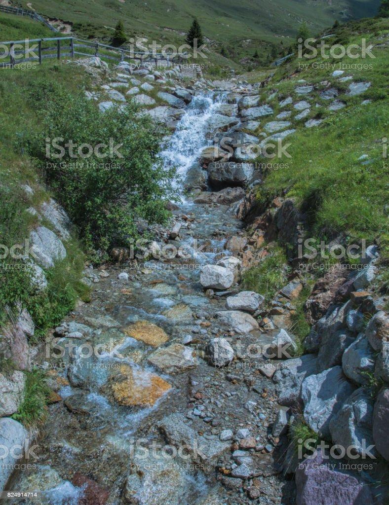 Mountain in South-Tirol stock photo