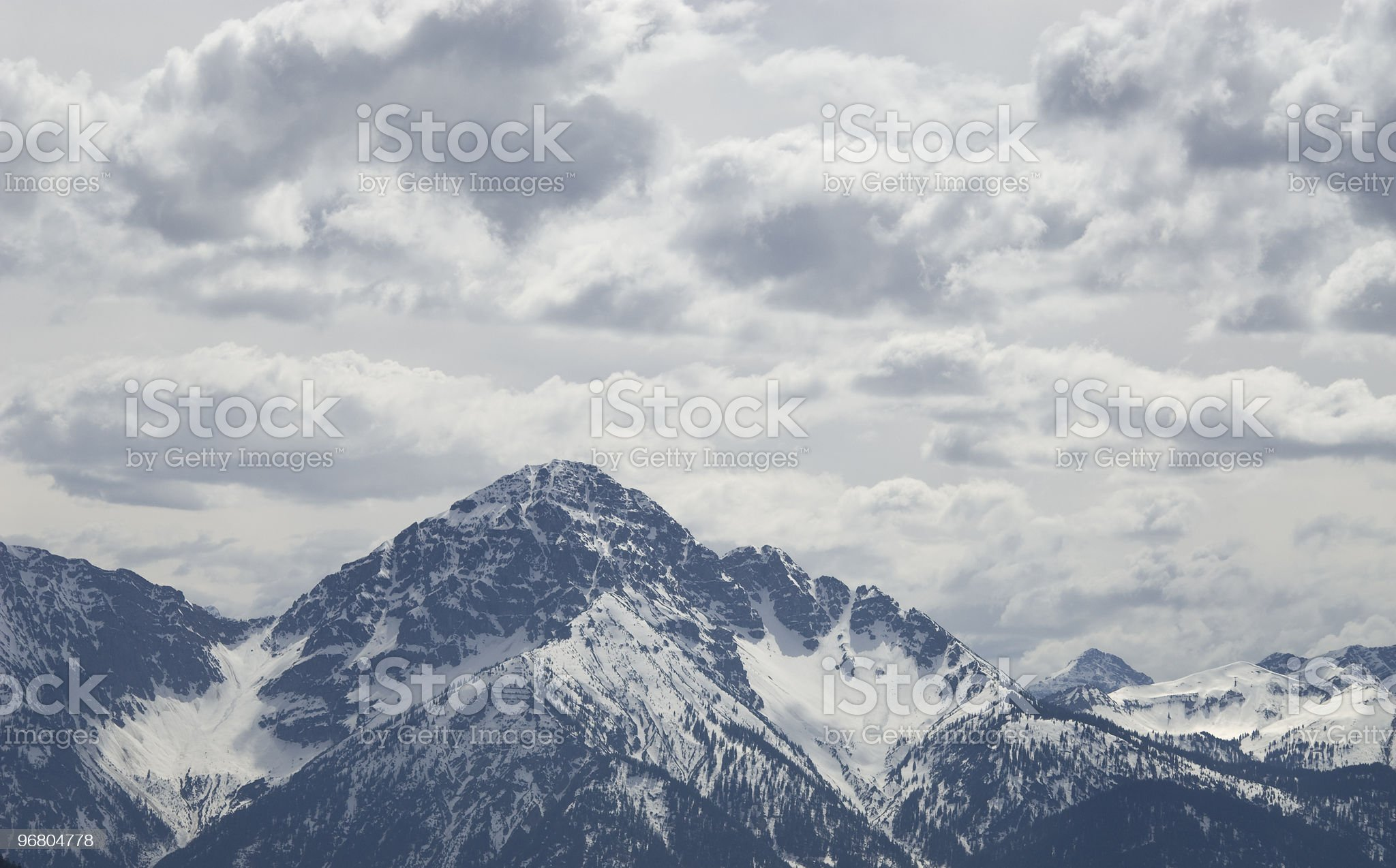 Mountain in the alps royalty-free stock photo