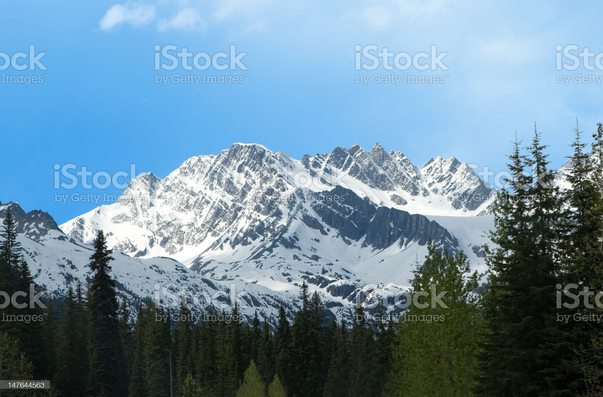 mountain in the canadian rockies royalty-free stock photo