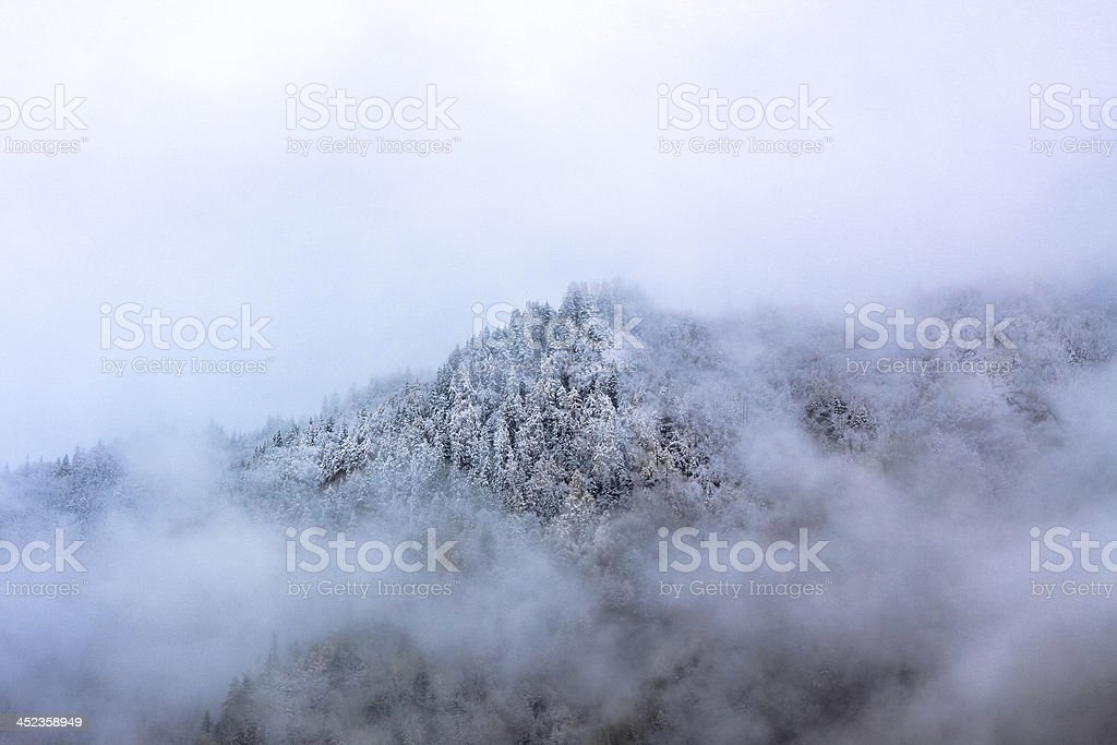 Mountain in the Clouds royalty-free stock photo